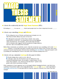 great papers templates 45 perfect thesis statement templates examples
