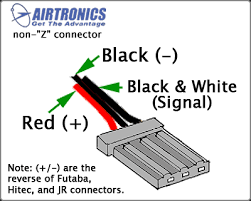 servo wiring information airtronics connector wiring non z