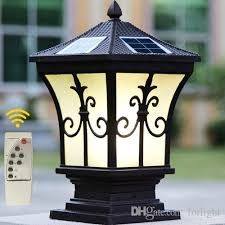 2019 solar power led post lights super bright outdoor waterproof garden lights led solar lights home post lamps outdoor villa deck yark from forlight