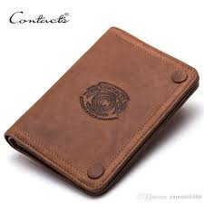 short wallet chain top design multifunctional genuine leather wallet casual men s card holder pocket fashion purse for men with gift box