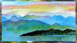 watercolor painting demo imaginary landscape watercolor sunset part 1 you