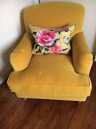 sofa canary yellow velvet armchair in willowbrae edinburgh gumtree for idea 12