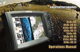 Humminbird 998c Hd Si Combo Manual