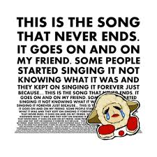 Lyrics to song this is the song that never ends by lamb chops: S O N G T H A T N E V E R E N D S M E M E Zonealarm Results