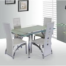 cute extending glass dining table and chairs marina frosted extendable dining table