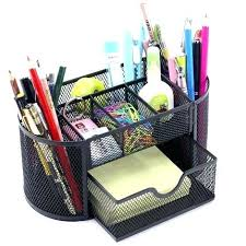 office pen holder. Office Pen Holder Desk Creative Stationery Holders Decorative Metal Mesh Organizer Cb . T