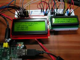 raspberry pi wiringpi lcd library gordons projects two lcd displays connected to a raspberry pi