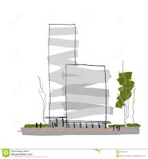 modern architectural sketches. Interesting Architectural Modern Architecture Multistorey Building Design Abstract Architectural  Sketch Throughout Architectural Sketches E