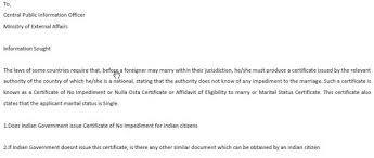 How To Get A Certificate Of No Impediment In India Do Indian