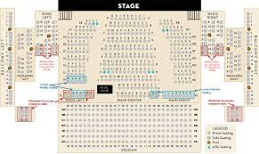 Seating Chart Schauer Center Performance Center And