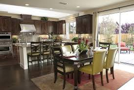 open kitchen dining room designs. Kitchen:Lovely Clear Kitchen Dining Room Decor Ideas Showing Natural Stone Wall And Wooden Open Designs D