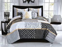 elegant black white dot scroll teen girl bedding twin full queen from black and white gothic