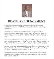 Sample Death Notice 10 Documents In Pdf Psd Word