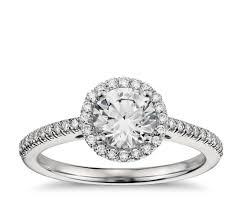 classic halo diamond engagement ring in platinum 1 4 ct tw