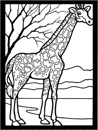 Printable Coloring Pages coloring page giraffe : Free African Giraffe Coloring Pages | Animal pages of ...