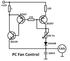 processor fan controller circuit processor fan control circuit diagram
