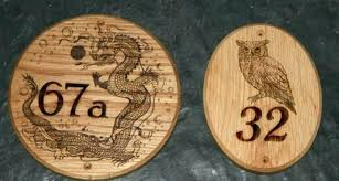 wooden house number signs delightful wood carved timber