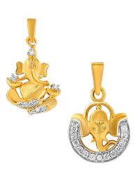 24k gold plated ganesha pendant set of 2 9694674 zoom image