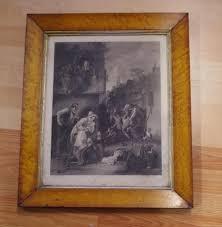 antique birds eye maple frame 56 cm x 46 5 cm with antique
