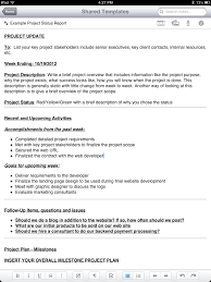 Project Status Reporting New Evernote Project Status Report Template Tabletproductive Com