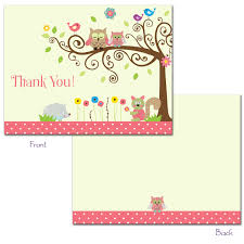 Photo  24 Printed Whimsey Owl ImageOwl Baby Shower Thank You Cards