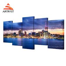 Small Picture Online Shop 5 Panel Modular New Zealand auckland bay night view