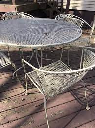 vintage wrought iron garden patio table