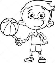 Jongen Basketbal Speler Kleurplaat Stockvector Izakowski 54329267