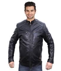 kirli black full sleeve leather casual jacket