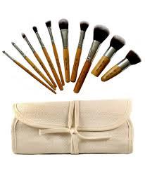 eco bamboo kabuki makeup brush set 10 pc 10 piece eco friendly