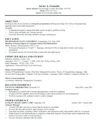 Sample Computer Science Resume Computer Science Resume Sample