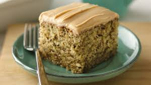 Banana Nut Cake With Peanut Butter Frosting Recipe Tablespooncom