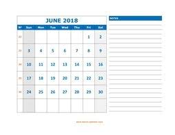 June 2018 Printable Calendar Free Download Monthly Calendar Templates