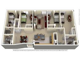 For The 4 Bed, 2 Bathroom Regular Floor Plan.