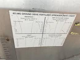 Adams Ground Driven Fertilizer Spreader Chart Adams Spreader Bigiron Auctions