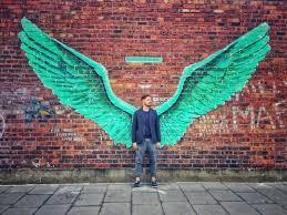 angel wings graffiti on angel wings wall art liverpool with angel wings graffiti yari brugnoni