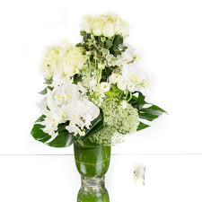 cly white roses and orchids