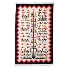 exquisitely handcrafted bird area rug 6x8 hummingbirds