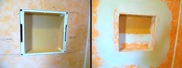 build a shower niche how to build a shower niche with cement board after how to