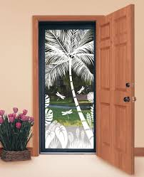 Flower Design Glass Door Design Your Own Tropical Etched Glass Windows And Doors