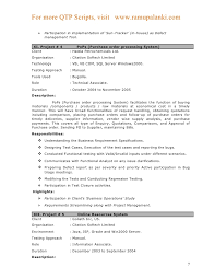 qtp sample resume .