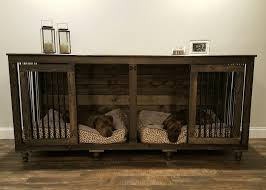furniture style dog crate. Furniture Style Dog Crate. The Double Doggie Den Indoor Rustic Kennel For Two Crate S