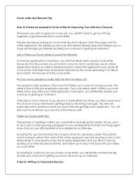 tips for writing a cover letter how to write impressive resume and cover letter 4 638