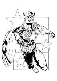 Small Picture Free Printable Superhero Captain America Coloring Pages For Kids