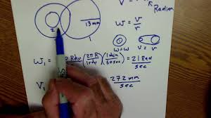 angular and linear velocity three gear problem