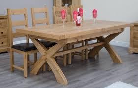 canterbury oak cross leg extending dining table