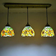 pendant light stained glass sunflower country style dining room decor hanging lamp in lights from lighting on