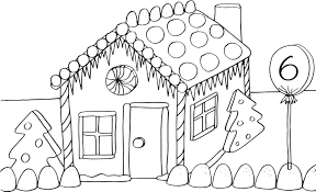 Gingerbread House Coloring Pages For Kids With Printable Gingerbread