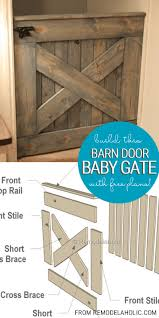 diy wooden baby gate barn door planked x by remodelaholic barn
