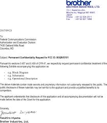 8vd101 Color Label Printer Cover Letter Confidentiality